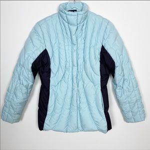Patagonia blue puffer coat